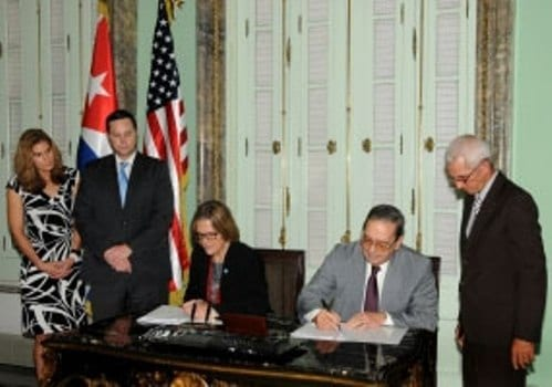 Cuba y Estados Unidos firman acuerdo sobre areas marinas.  Foto: cadenagramonte.cu