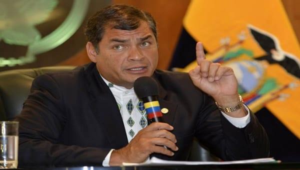 Rafael Correa.  Foto/archivo: telesur.net