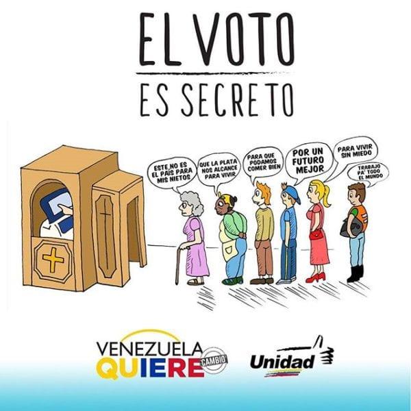 Publicidad electoral del MUD.