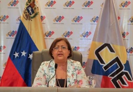 Tibisay Lucena, presidenta del Consejo Electoral de Venezuela.