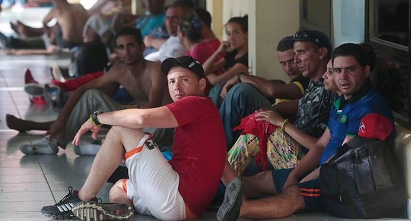 Unos de los miles emigrantes cubanos varados en Costa Rica.