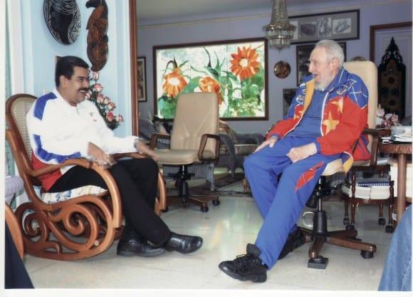 Fidel Castro con Nicolás Maduro en La Habana en Agosto de 2014. Foto: estudios revolución
