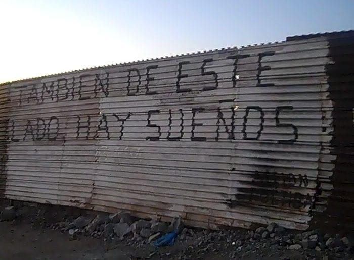 Lado mexicano de la frontera.
