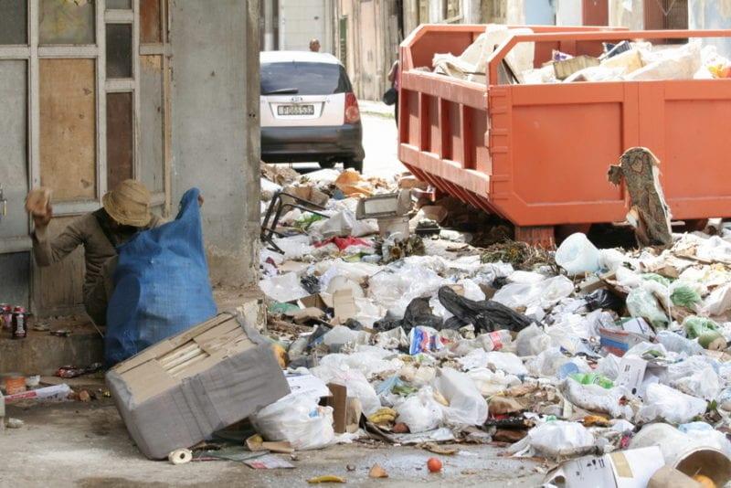 Basura acumulado.  Foto Hablemos Press