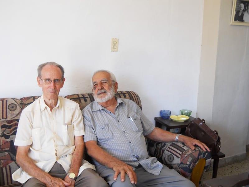 Elio Delgado Legón con Julio Chaviano Fundora