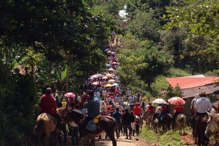 Lanzan campaña con multitudinaria marcha en La Fonseca, Nueva Guinea