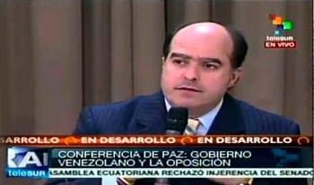 El líder de la bancada opositora en la Asamblea, Julio Borges.