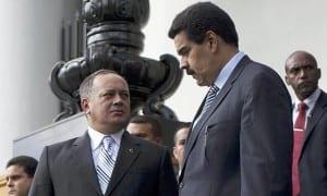 Diosdado Cabello with President Maduro.