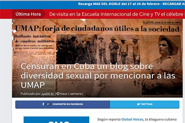 """Gracias a la censura, el blog """"Proyecto Arcoíris"""" ha recorrido el mundo y la historia de las UMAP vuelve a aparecer."""