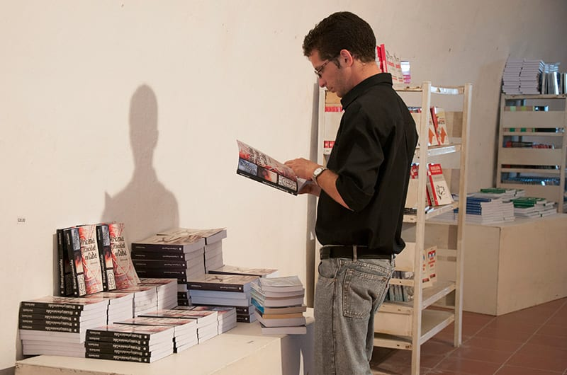 """En el mismo momento en que se publican los libros """"1984"""" y los reportajes de una escritora y periodista emigrada, se castiga a quienes hablan de historia. Foto: Raquel Pérez Díaz"""