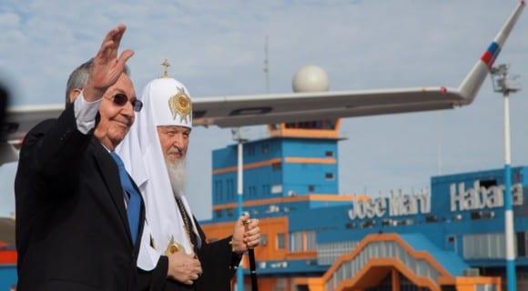 El patriarca Kirill y Raul Castro. Foto: cubadebate.cu