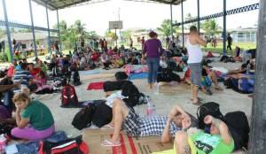 Migrantes cubanos en Panamá.  Foto: tvn-2.com
