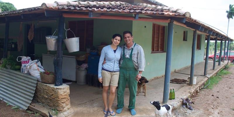 La Finca Marta está a unos 20km de La Habana, esta a cargo de Fernando Funes y su esposa. Foto: Raquel Pérez Díaz