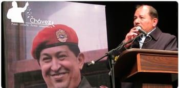 Daniel Ortega en el homenaje a Hugo Chávez. Foto: telesurtv.net