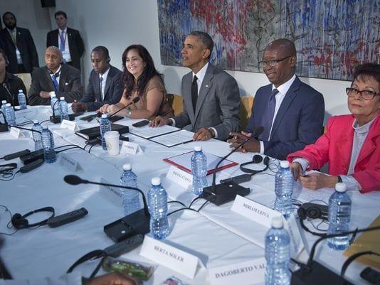 Obama con disidentes cubanos el 22 de marzo, 2016 en La Habana. Foto: (Photo: Pablo Martinez Monsivais, AP/USA Today