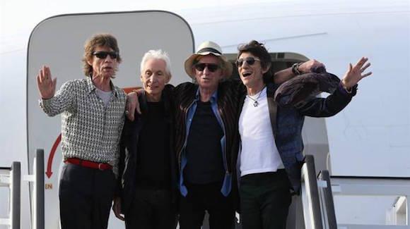 Los Rolling Stones llegando ayer a Cuba. Foto: cubadebate