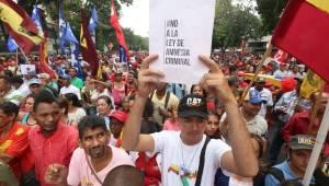 Seguidores del gobierno de Nicolás Maduro.  Foto: AVN