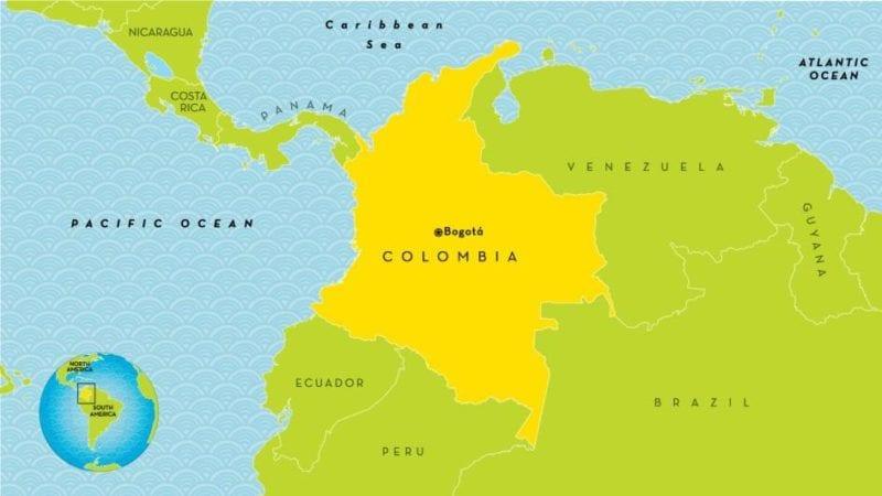 Map of Colombia.  Illustration: kids.nationalgeografic.com
