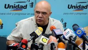 Jesus Torrealba, portavoz de la coalición MUD. Foto/archivo: 800noticias.com