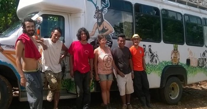 Los integrantes de la caravana mesoamericana que fueron expulsados de Nicaragua sin saber porque. Foto: http://www.sinembargo.mx