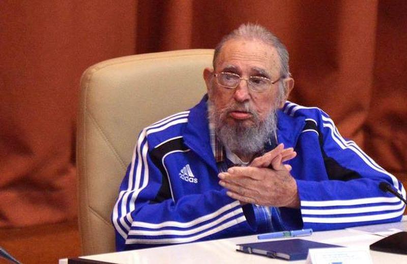Fidel Castro en la sesión final del 7mo. Congreso del Partido Comunista de Cuba. Foto: Omara Garcia Mederos/ACN