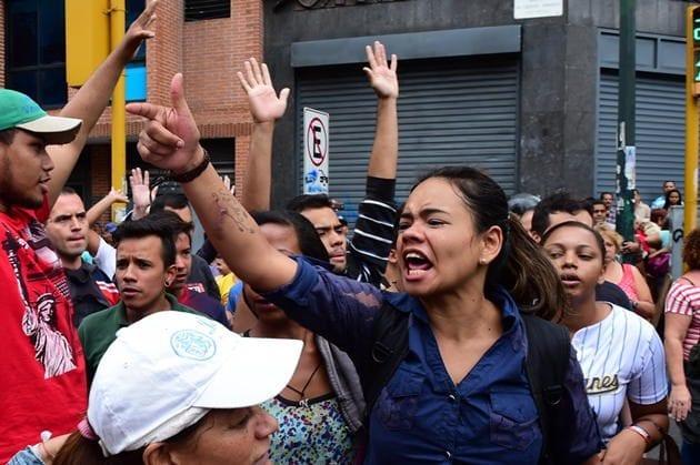 Protesta por comida en Venezuela.  Foto: mundo24.net