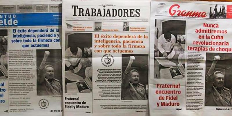 7.La política informativa de Cuba la decide un pequeño grupo de funcionarios tan poco conocedores de la comunicación que han llegado a elaborar la misma portada para todos los periódicos.