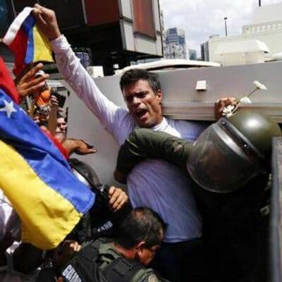 Cuando fue originalmente detenido Leopoldo López.  Foto: twitter.com