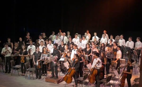 La Orquesta Sinfónica Juvenil de Oakland en La Habana.