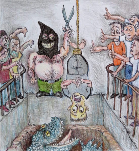 The Death Penalty. Illustration by Carlos.