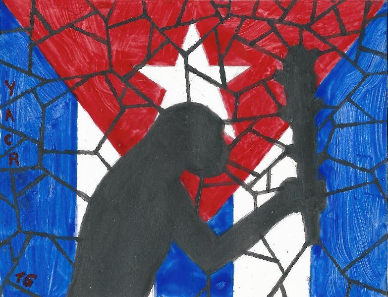 El cubano nuevo. Ilustración por Yasser Castellanos