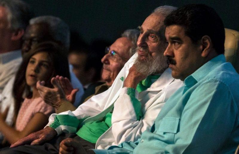 Maduro con Fidel Castro el 13 de agosto, 2016.  Foto: vozpopuli.com