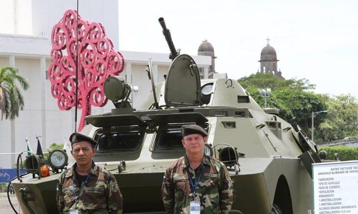 Uno de los nuevos tanques que forma parte del arsenal nicaragüense.