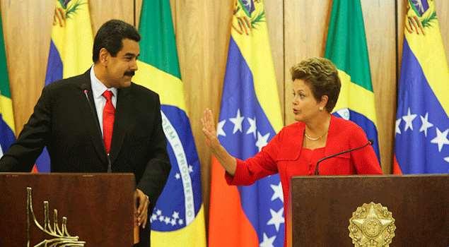 Nicolás Maduro y Dilma Rousseff. Foto/archivo: talporcual.com