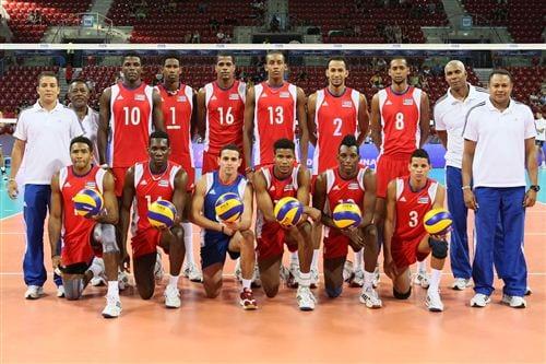 Equipo cubana de voleibol.  Foto/archivo: cubahora.cu