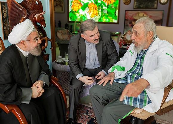 Fidel Castro recibió en su casa al presidente Irani, Hassan Rouhani. Foto: Estudios Revolución.