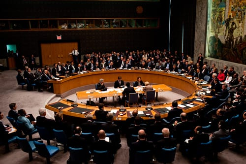 Consejo de Seguridad de la ONU.  Foto: wikipedia.org
