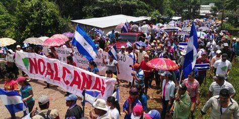 Uno de las protestas del 31 de agosto contra el canal y ley 840.  Foto: laprensa.com.ni