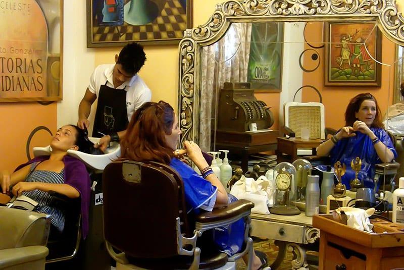 La peluqueria de papito. Foto: Raquel Pérez Díaz