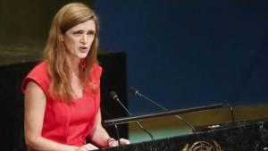 Samantha Power en la ONU.  Foto: voanews/AP