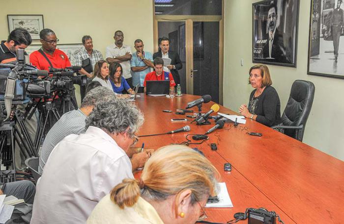 Conferencia de prensa de Josefina Vidal, directora general de Estados Unidos de la Cancillería cubana. Fotos: Jose M. Correa/granma.cu