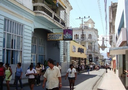 Calle Enrramadas de Santiago de Cuba.  Foto: Janis Hernández
