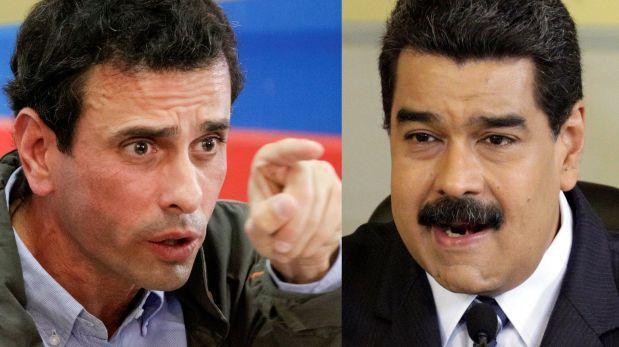Henrique Capriles y Nicolás Maduro.  Foto: elcomercio.pe