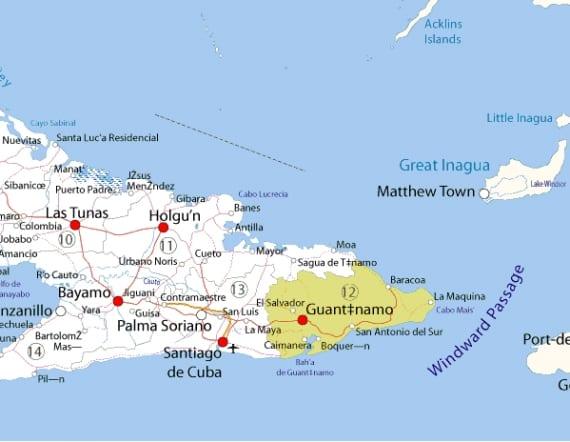 Mapa de oriente cubano.