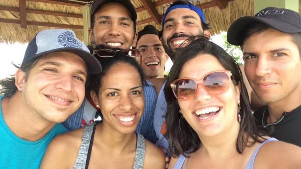 El equipo de Periodismo de Barrio que fue detenida por las autoridades.