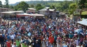 Protesta contra las elecciones en Nicaragua.  Foto: laprensa.com.ni