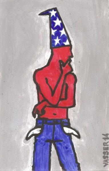 Ilustración por Yasser Castellanos de la serie: Cubanos de a pie.