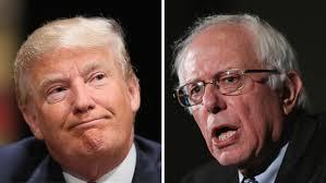 Donald Trump y Bernie Sanders. Foto: thehill.com