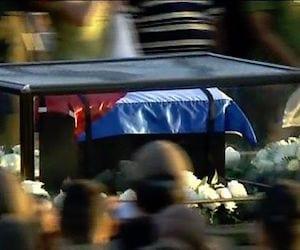 La urna con las cenizas de Fidel Castro comenzó esta mañana su viaje hacía el oriente cubano.  Foto: granma.cu