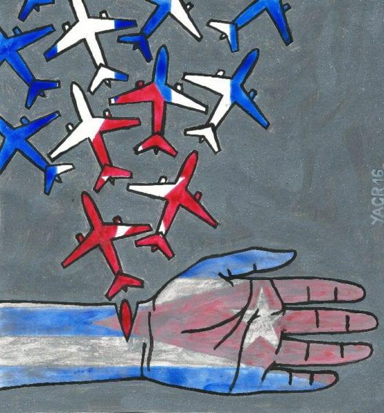 Hemorragia. Ilustración por Yasser Castellanos